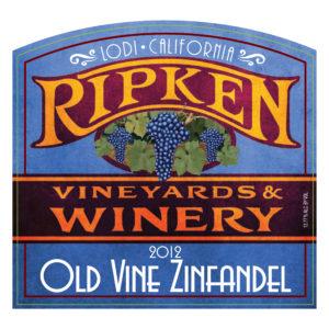 Ripken Wine label 2012 Old Vine Zinfandel