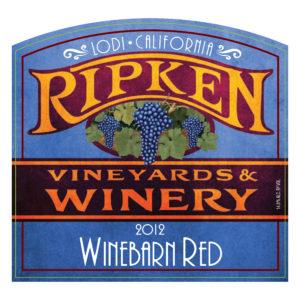 Ripken Wine label 2012 Winebarn Red