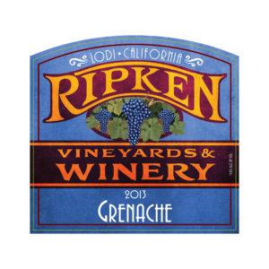 Ripken Wine label 2013 Grenache