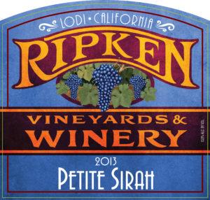 Ripken Wine label 2013 Petite Sirah