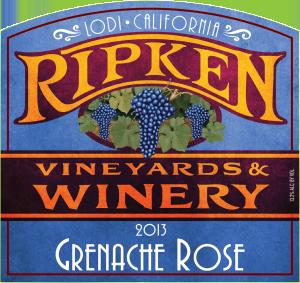 Ripken Wine label 2013 Grenache Rose