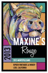 Ripken Wine label Maxine Rouge