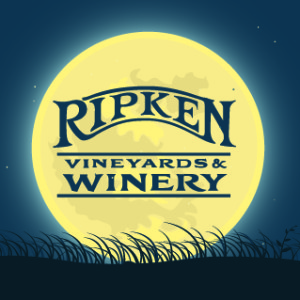 Ripken Winery logo with a full moon behind it.