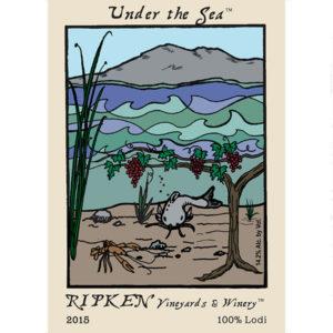 Ripken Wine label for Under The Sea wine