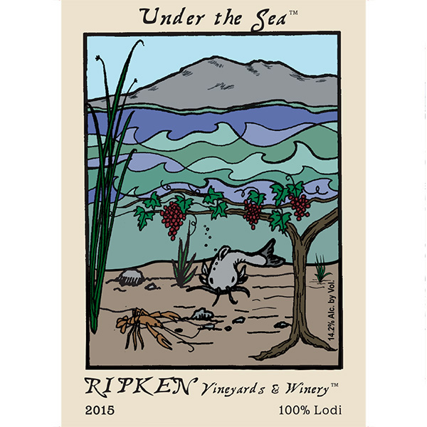 Ripken Wine label for Under The Sea wine