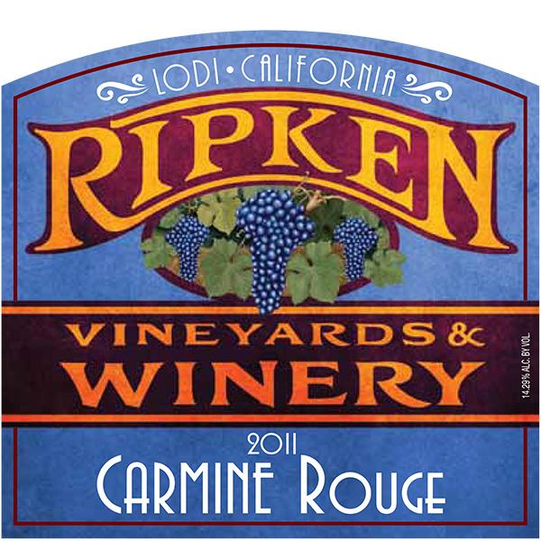 Ripken Wine label for 2013 Carmine
