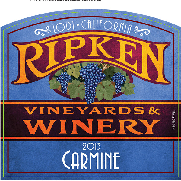 Ripken Wine label for 2013 Carmine