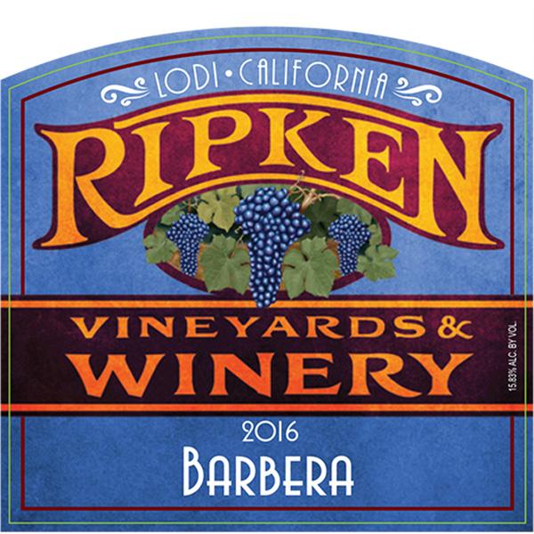 Ripken Wine label for 2016 Barbera
