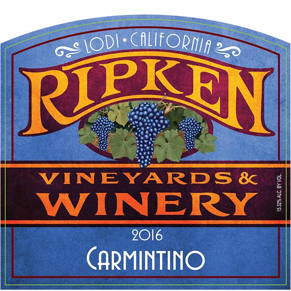 Ripken Wine label for 2016 Carmintino
