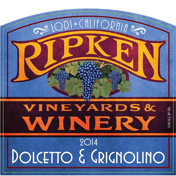 Ripken Wine label for 2014 Dolcetto & Grignolino