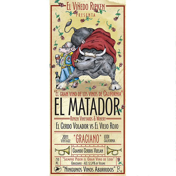 Ripken Wine label for El Matador Graciano