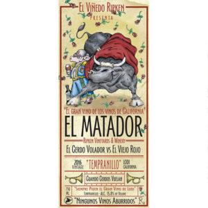 Ripken Wine label for El Matador Tempranillo
