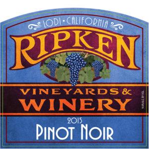 Ripken Wine label for 2015 Pinot Noir