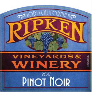 Ripken Wine label for 2017 Pinot Noir