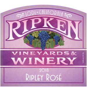 Ripken Wine label for 2018 Ripley Rose