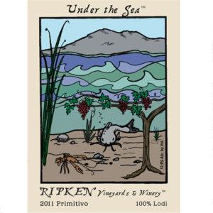 Ripken Wine label for Under The Sea 2011 Primitivo