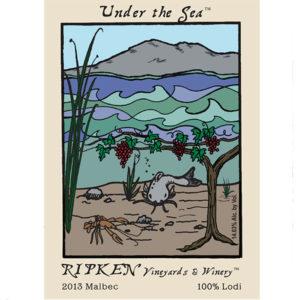 Ripken Wine label for Under The Sea 2013 Malbec