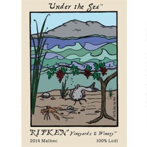 Ripken Wine label for Under The Sea 2014 Malbec