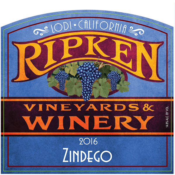 Ripken Wine label for 2016 Zindego