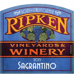 Ripken Wine label for 2015 Sagrantino