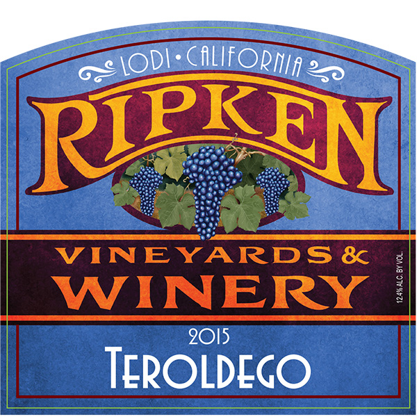 Ripken Wine label for 2015 Teroldego